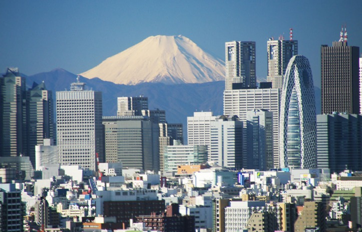 Fuji and tokyo