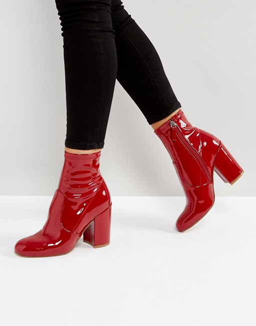 red patent boot